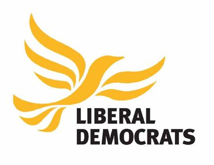 Liberal Democrat Party Logo with yellow bird
