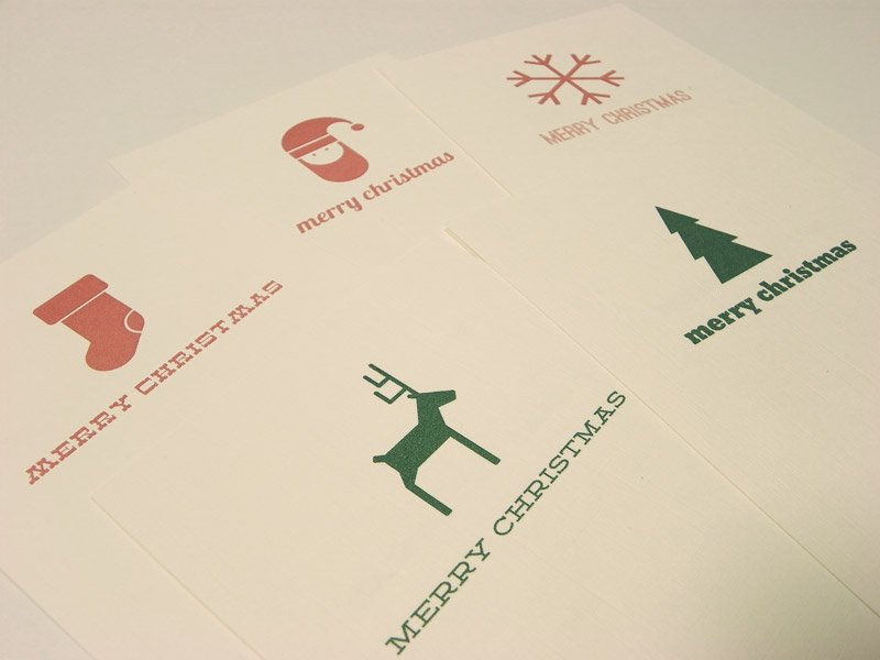 oneafternine - Christmas Cards - Hand Designed Icons - For Sale - Father Christmas | Snowflake | Reindeer | Christmas Stocking | Christmas Tree