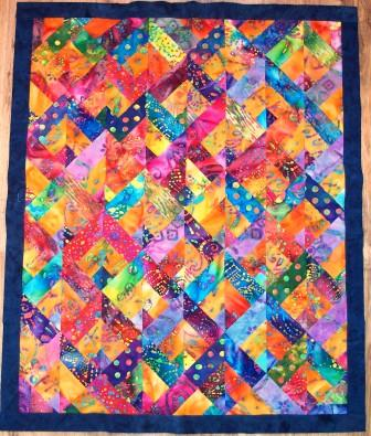 Daisy236: Two from one jelly roll quilt..... : batik jelly roll quilt - Adamdwight.com