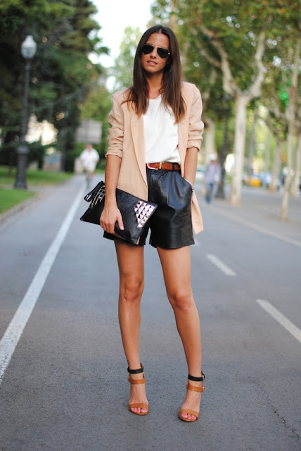 mint blog, long black shorts