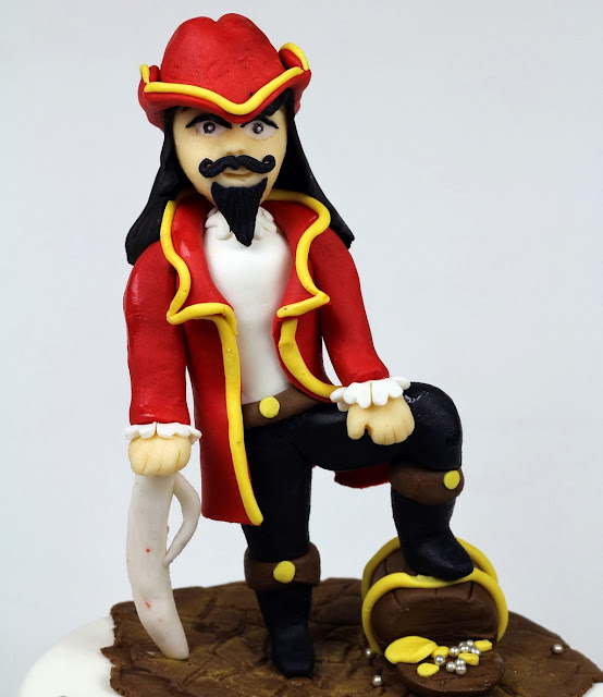 Captain Morgan Pirate Cake Topper - London Cakes