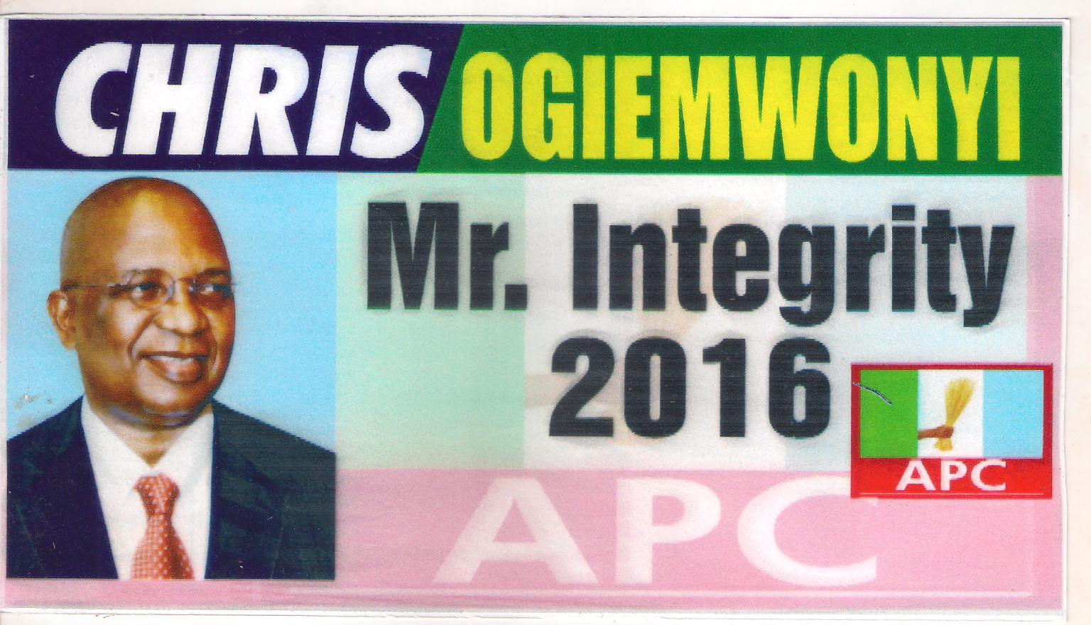 Vote Engr. Chris Ogiemwonyi for Governor of Edo State 2016