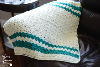 Brick Stitch Afghan Crochet Pattern