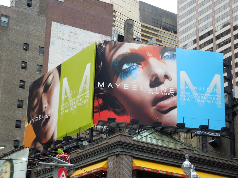 Maybelline NY Fashion Week 2012 makeup billboard