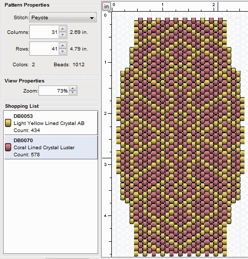 free beading peyote stitch pattern