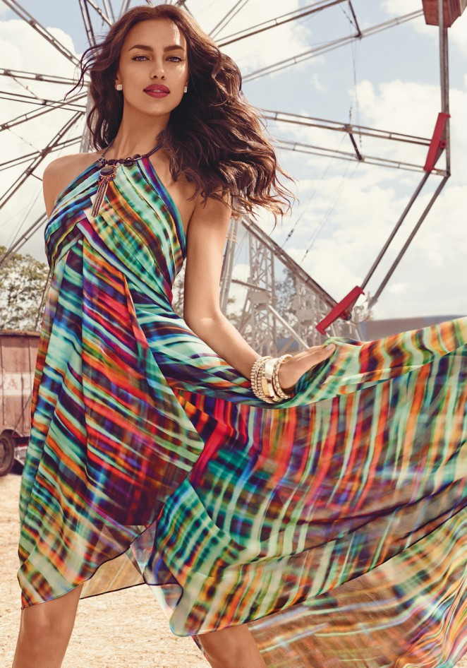 Bebe 'Cirque Du Chic' Summer 2015 Lookbook featuring Irina Shayk and Gracie Carvalho
