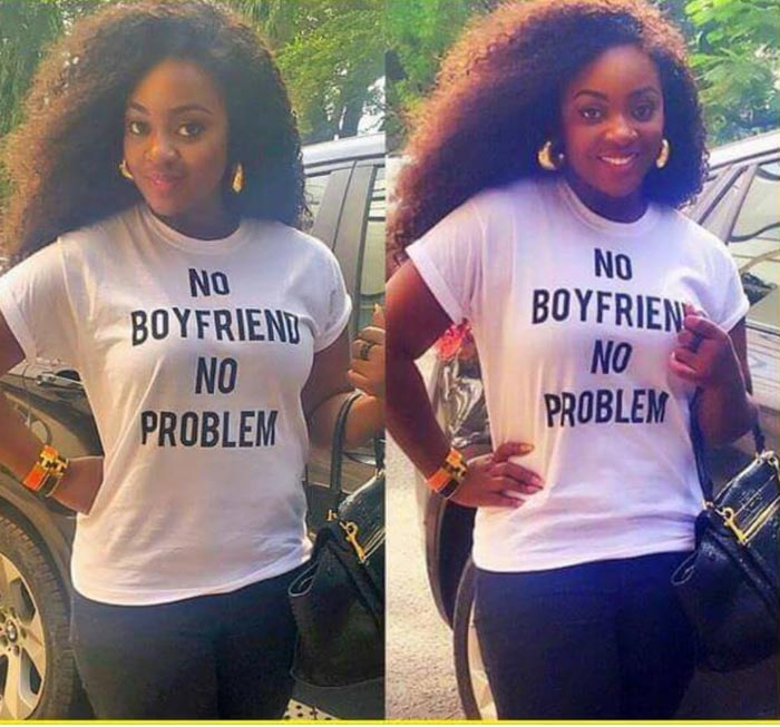 Check Out The Inscription On This Lady's Shirt (Photo)