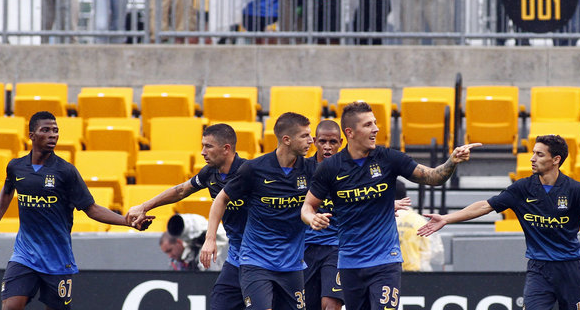 Manchester City menewaskan AC Milan 5 1 di International Champions Cup
