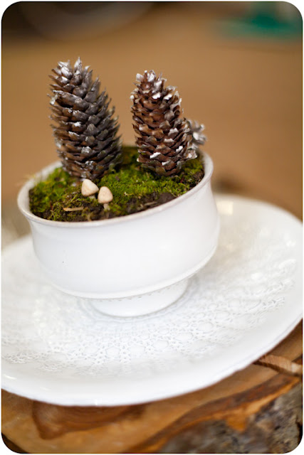 WT+2 DIY Wedding Idea: Winter Landscape Centerpiece