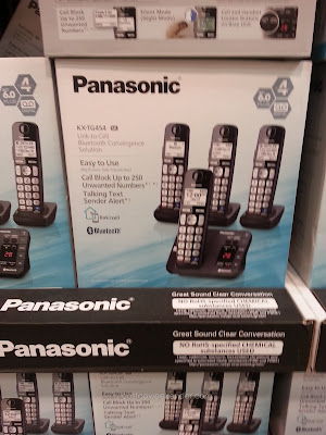 Panasonic KX-TG454 Bluetooth Handset Phones features cellphone linking via Bluetooth