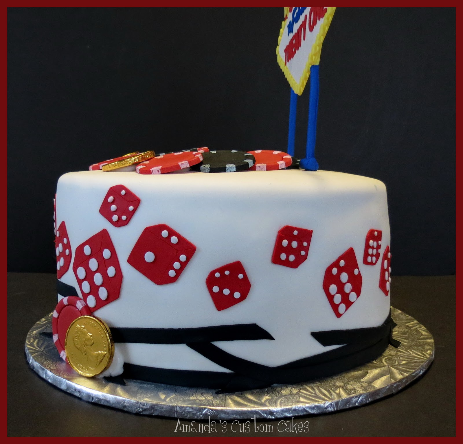 Amanda's Custom Cakes: Las Vegas Cake
