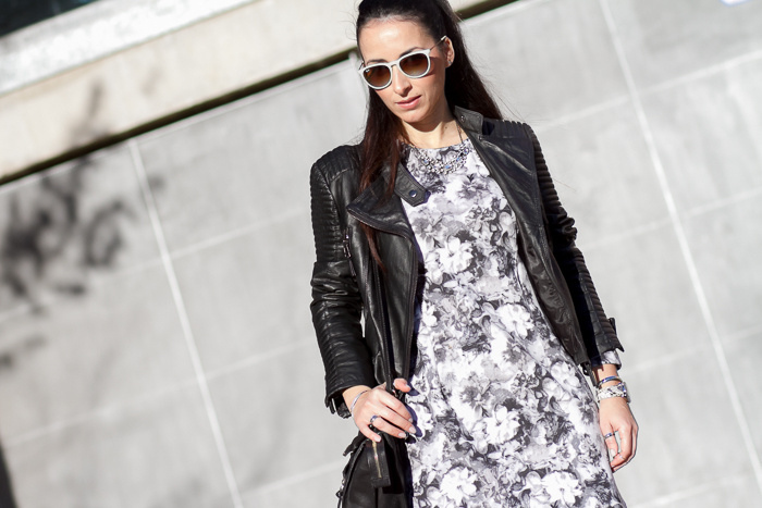 Ray-Ban Erika Sunglasses and floral neoprene dress Style Fashion Blog withorwithoutshoes Valencia