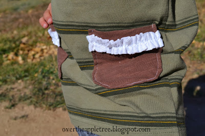Refashion boy's clothes into girl's clothes, Upcycling tutorial by Over The Apple Tree