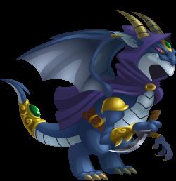 imagen del dragon elfo oscuro