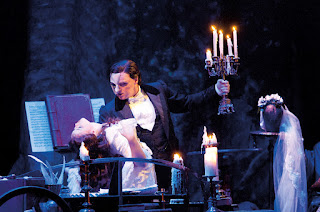 Katie Hall as Christine and John Owen-Jones as The Phantom in The Phantom of the Opera - UK Tour