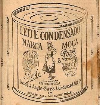 Embalagem do Leite Moça em 1930.