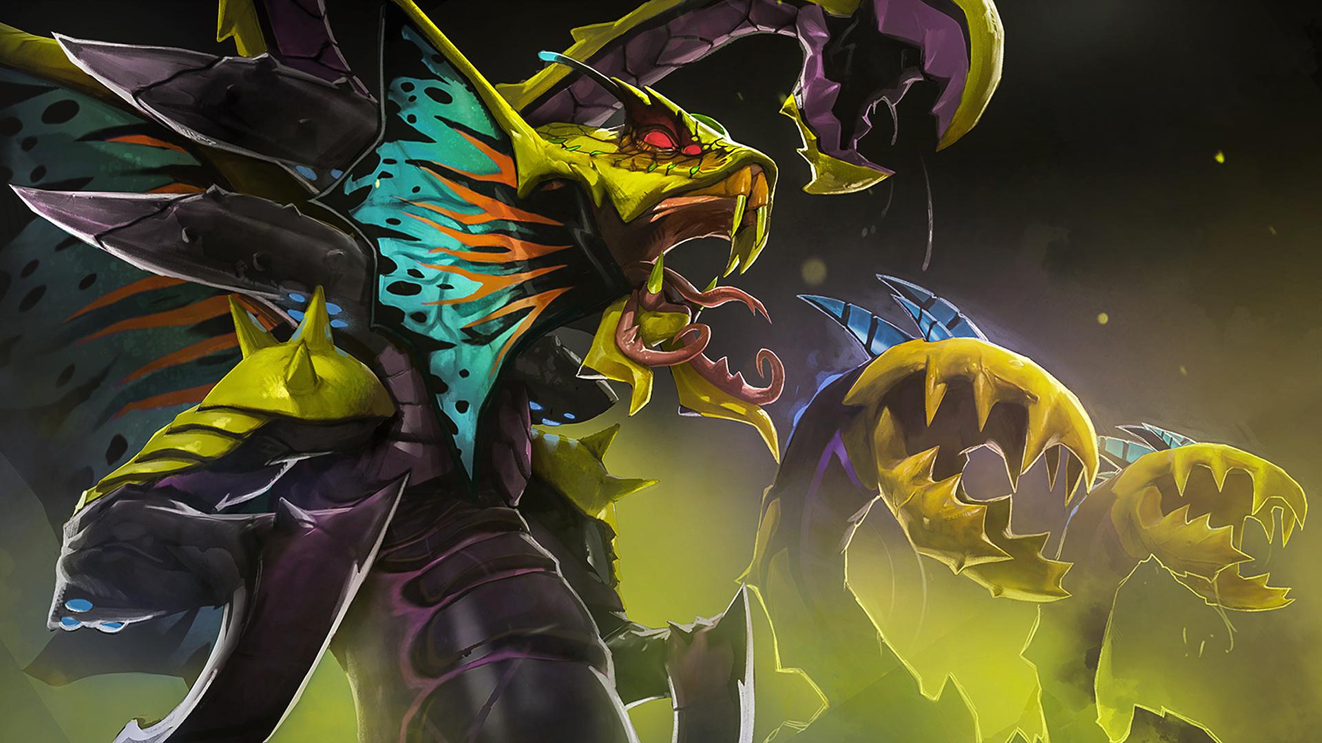 dota 2 venomancer flytrap wallpaper hd
