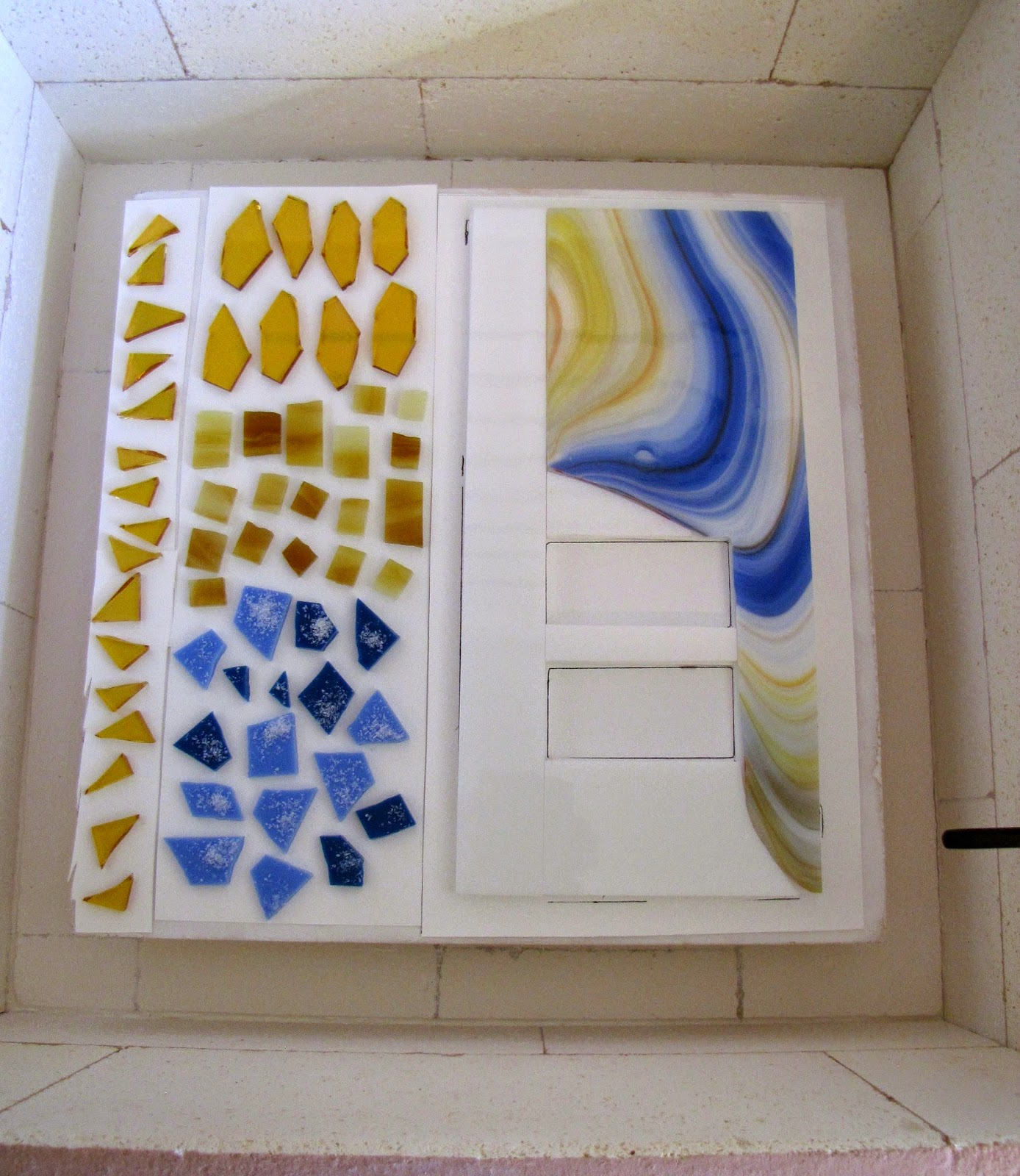 Into the kiln for a full fuse