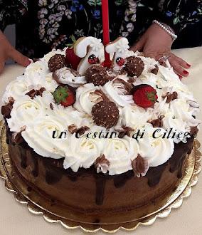 drip cake cioccolato e panna