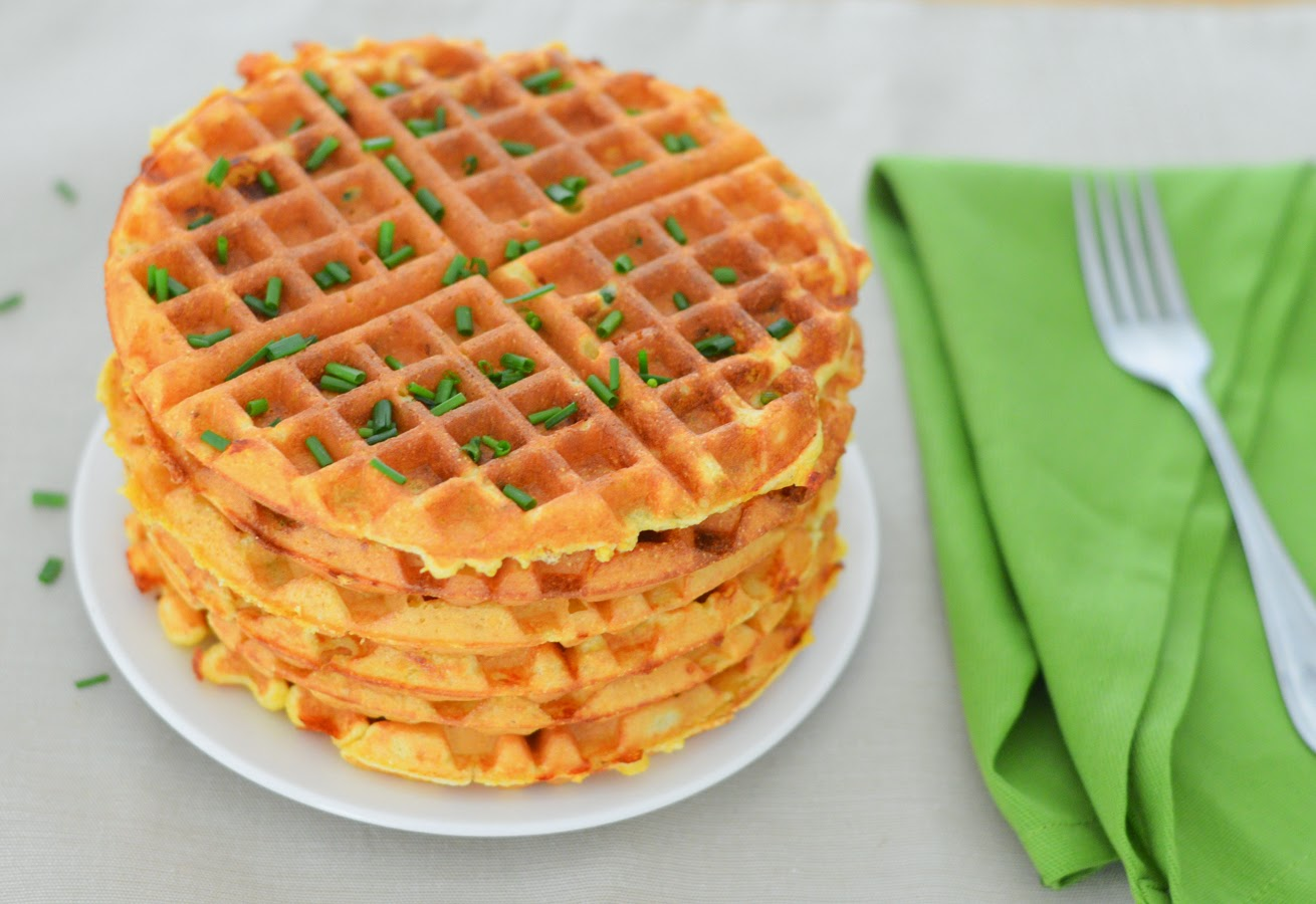Cheddar + Chive Cornmeal Waffles Brunch Recipe | What to Make for ...