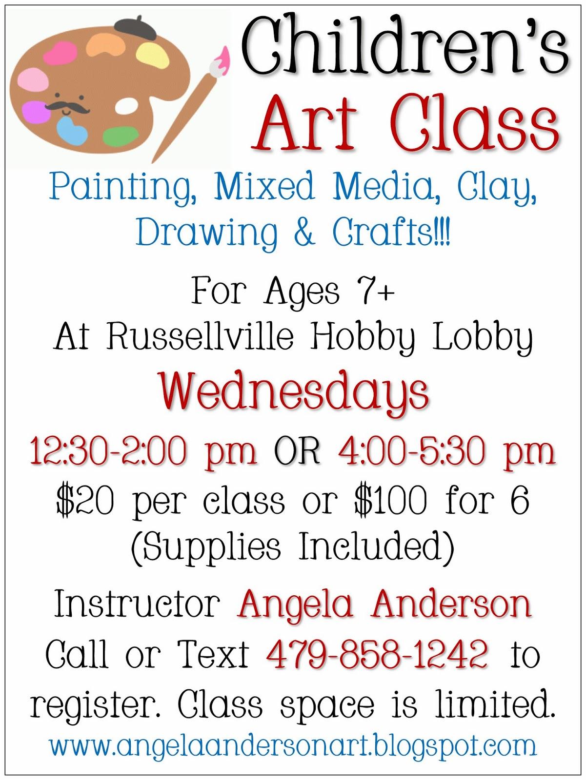 Angelas Art Class Registration