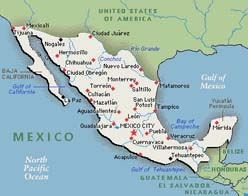 Elder Edmund Gubler Mexico Merida Mission Mexico Map