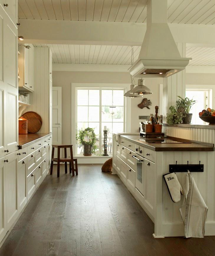 Den vita (dröm) gården: Äntligen! köket klart!