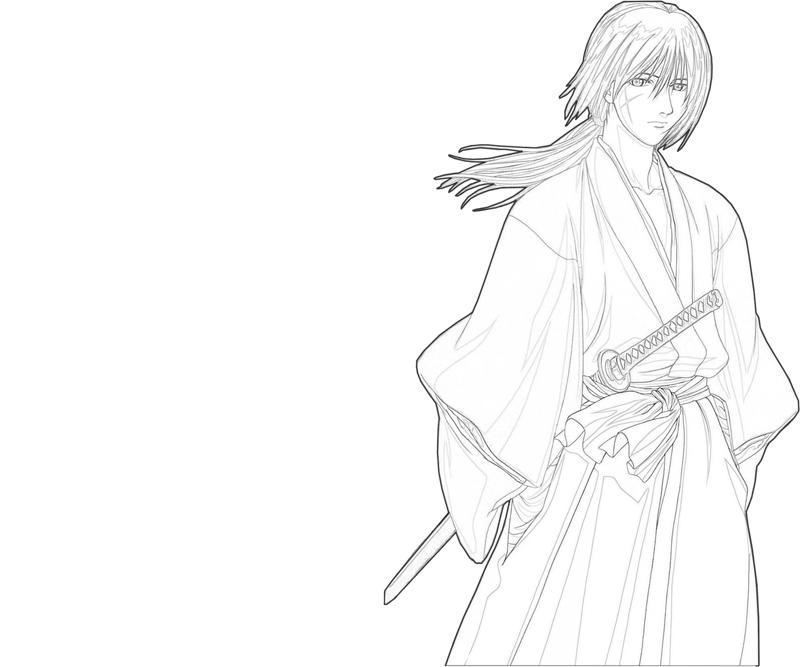 kenshin-himura-look-coloring-pages