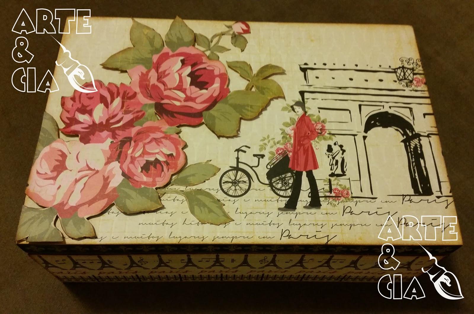Caixa de Bijouteria Scrapbooking. Tema: Paris #30200A 1600x1061