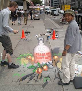 Creative Street Painting Ads Sample