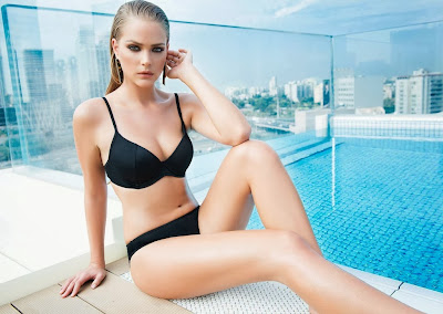 Esti Ginzburg hot body for Go Under sexy swimwear model photoshoot