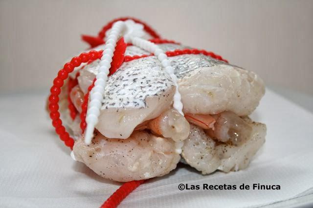 Las recetas de finuca merluza rellena de gambas - Cocinar lomos de merluza ...