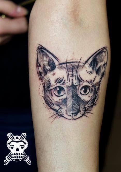 20 Most Beautiful Cat Tattoos Design & Ideas arm