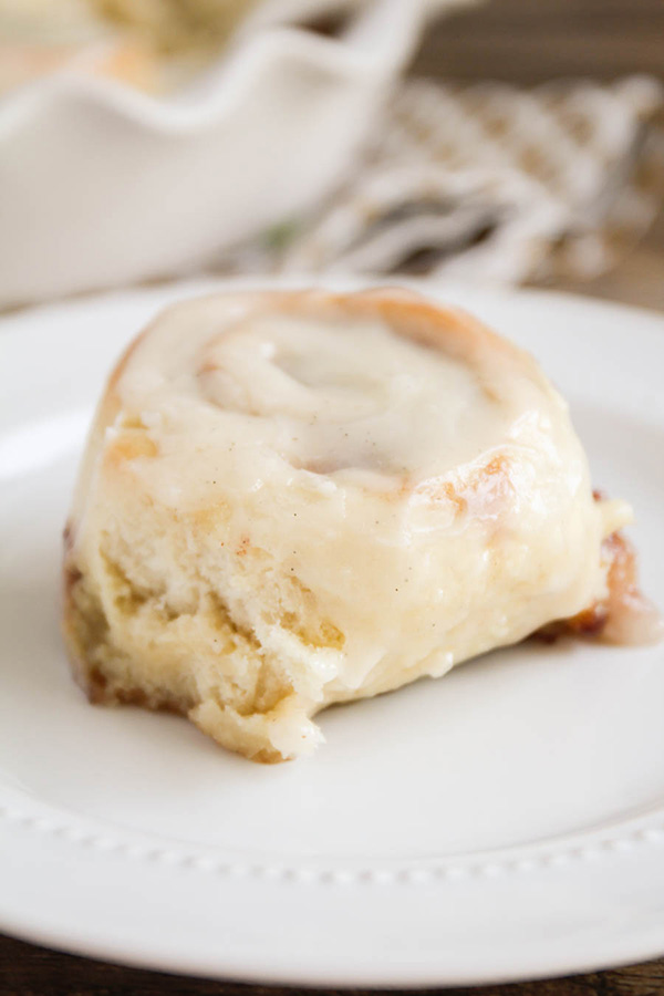... upstairs: One Hour Cinnamon Rolls with Vanilla Bean Cream Cheese Glaze