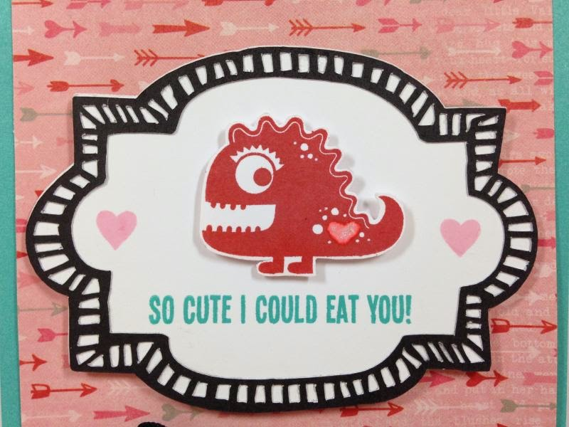 So Cute I Could Eat You Valentine card closeup