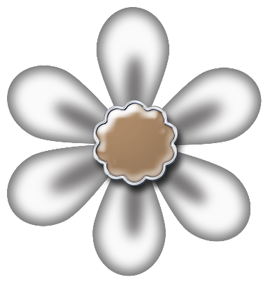 Free White Digital Scrapbook Flower 44