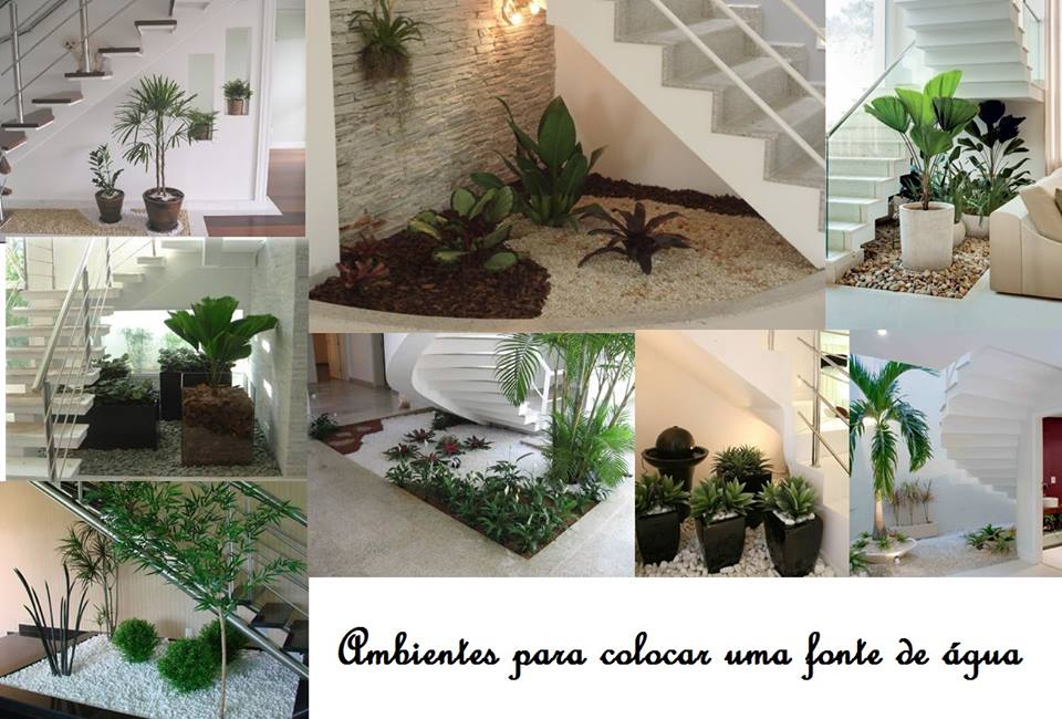 escada jardim embaixo:Arquitetura e Paisagismo: Dica: Os jardins feitos embaixo da escada