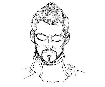 #4 Deus Ex Coloring Page