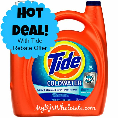 Tide Just $10.74 Each After Coupons and Rebate at BJs