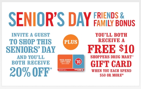 Jul 08,  · Shoppers Drug Mart hosts a Seniors Discount Day on the last Thursday of each month. Seniors receive a 20% discount off regularly priced items (some exclusions apply). To be eligible for the discount, a customer must be at least 65 years of age and present their personal Shoppers .