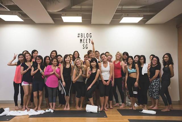 #Blogmeetsg Pure Yoga Bloggers