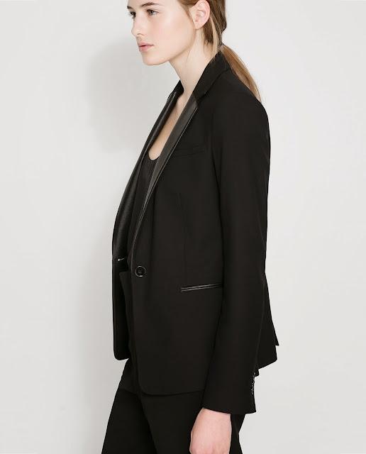leather lapel blazer