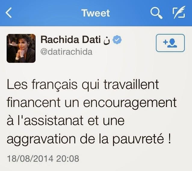 Rachida Dati, assistée de la République