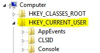 HKEY_CURRENT_USER hide a drive