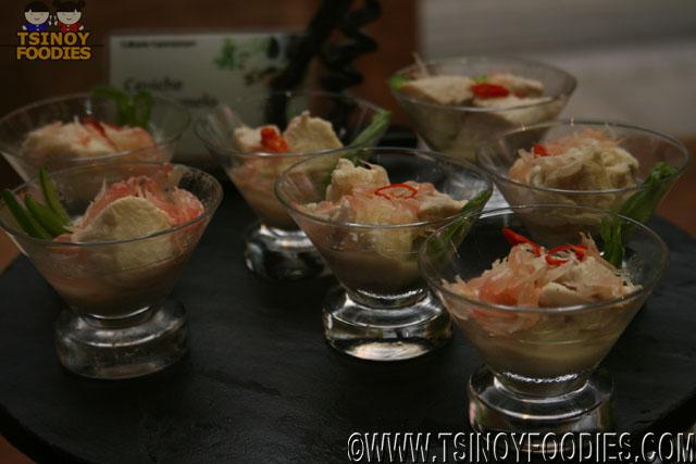 ceviche with pomelo
