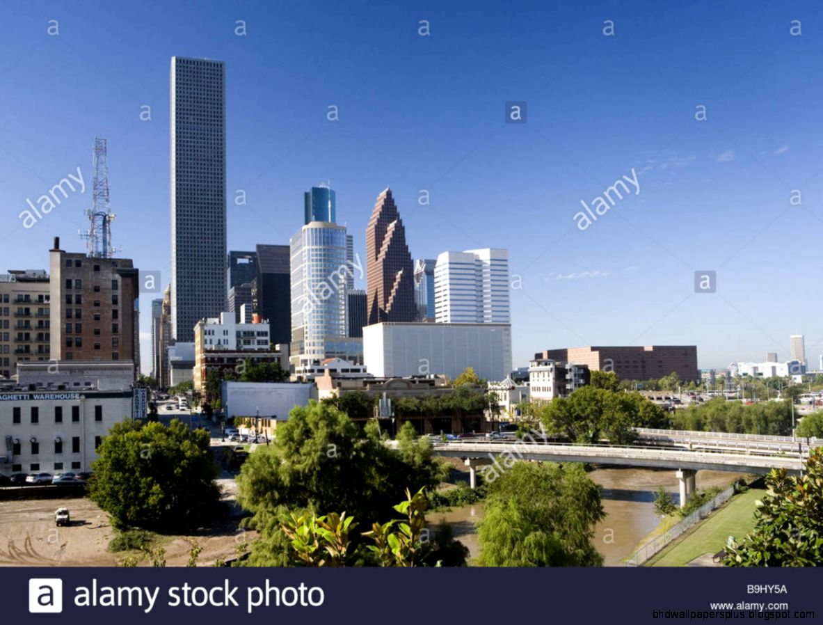 Usa Texas Houston Skyline America Sight Trip Tourism City City