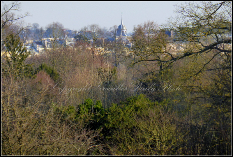Versailles city seen from Petit Trianon