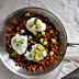 Sweet Potato Hash with Poached Eggs and Avocado
