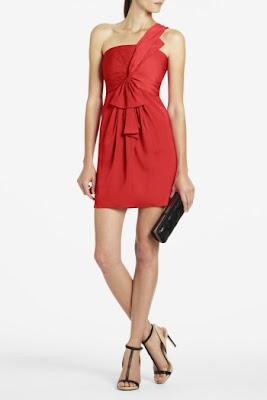 PALAIS ONE-SHOULDER SATIN BOW DRESS