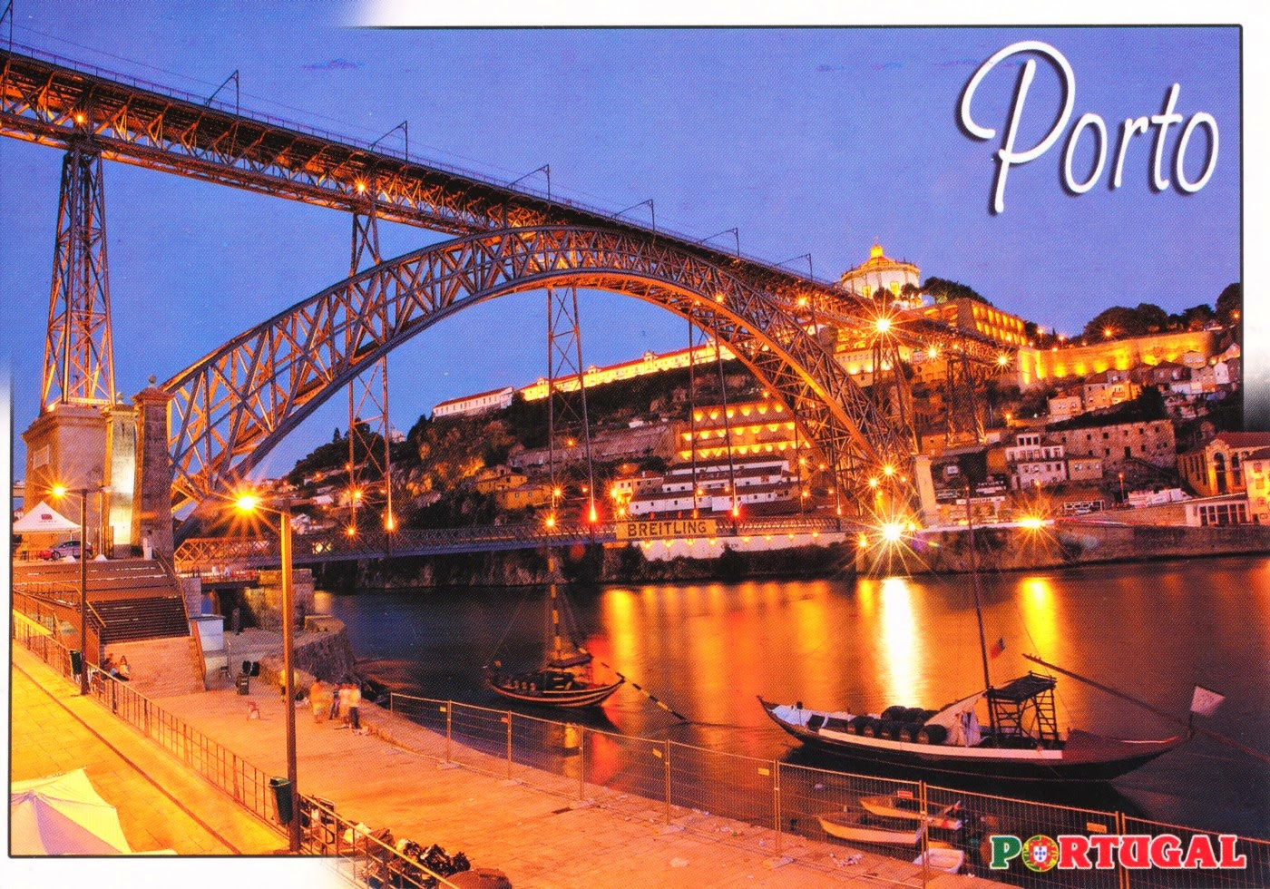 postcard, porto, portugal, harbor, bridge, steel